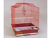 Золотая клетка, Средняя фигурная крыша для птиц, эмаль (35х28х43 см.)